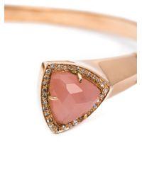 Jacquie Aiche | Pink Diamond And Quartz Bangle | Lyst