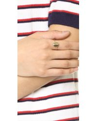 kate spade new york - Metallic Forever Mine Letter Ring - Lyst