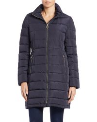 Ivanka Trump | Blue Faux-fur Hooded Coat | Lyst
