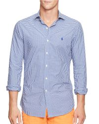 Polo Ralph Lauren | Blue Checked Estate Sportshirt for Men | Lyst