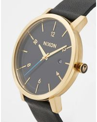 Nixon - Black Rollo Leather Strap Watch A945 for Men - Lyst