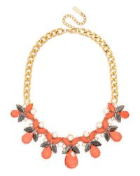 BaubleBar | Orange Pearl Pear Collar | Lyst