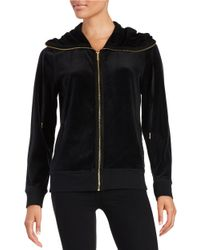 Calvin Klein | Black Sueded-trim Funnelneck Jacket | Lyst
