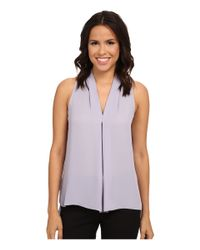 Vince Camuto - Purple Blouse With Inverted Front Pleat - Lyst