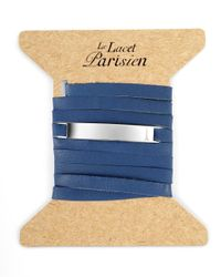 Ursul | Le Lacet Parisien Blue Leather Lace-up Bracelet for Men | Lyst