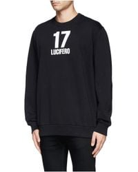 Givenchy - Black '17 Lucifero' Sweatshirt for Men - Lyst