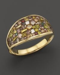 Plevé | Metallic Plevé 18k Yellow Gold Cinnamon Mosaic Wrap Ring With Diamonds | Lyst