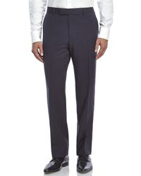 BOSS - Blue Jeffrey Flat Front Classic Fit Pants for Men - Lyst