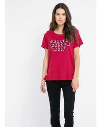 Mango - Red Choose T-Shirt - Lyst