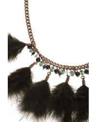 Étoile Isabel Marant - Green Feather Necklace - Lyst