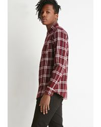 Forever 21 | Purple Plaid Flannel Shirt for Men | Lyst
