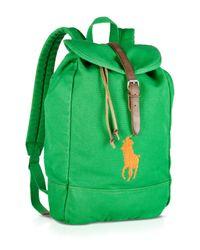 Ralph Lauren - Green Polo Canvas Backpack for Men - Lyst