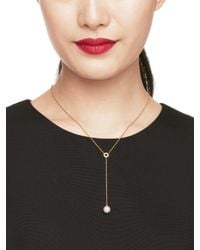 Kate Spade | Natural Purely Pearly Y Necklace | Lyst