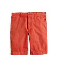 "J.Crew - Orange 9"" Stanton Short In Garment-dyed Cotton for Men - Lyst"