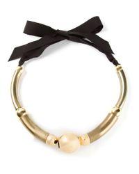 Lanvin - Metallic 'polly' Necklace - Lyst