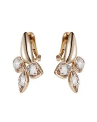 Aurora | Metallic Flower Clip Earrings | Lyst