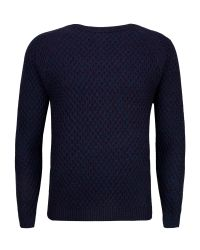 Ted Baker | Purple Morrelo Textured Raglan Sleeve Jumper for Men | Lyst