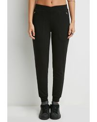 Forever 21 | Black Classic Zipped Joggers | Lyst