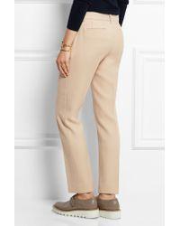 DKNY - Natural Wool-twill Straight-leg Pants - Lyst