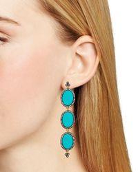 Freida Rothman - Metallic Triple Drop Slice Earrings - Lyst