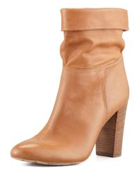 Vc Signature - Brown Taresa Slouchy Leather Bootie - Lyst