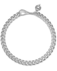 Lauren by Ralph Lauren - Metallic Silver-Tone Large Curb Chain Necklace - Lyst