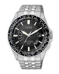 Citizen | Black Men's Eco-drive World Time Titanium Bracelet Watch 45mm Cb0030-56e for Men | Lyst
