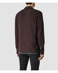 AllSaints - Purple Courthauld Shirt for Men - Lyst