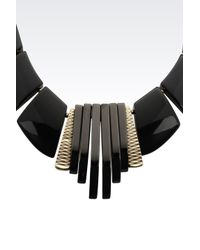 Emporio Armani | Black Necklace | Lyst