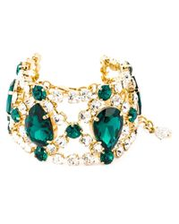 DSquared² | Green Embellished Bracelet | Lyst