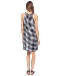 Splendid - Black Gingham Zip Back Dress - Lyst