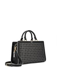 Tory Burch - Black Fret-t Satchel - Lyst