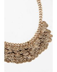 Forever 21 - Metallic Etched Coin Statement Necklace - Lyst