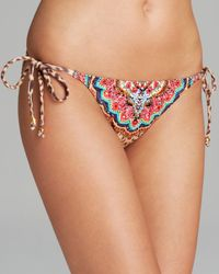 Pilyq   Multicolor Raja Embroidery String Bikini Bottom   Lyst