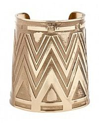 House of Harlow 1960 - Metallic Large Antiqued Cuff - Lyst