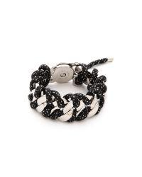 Marc By Marc Jacobs - Corded Katie Bracelet Black Multi - Lyst