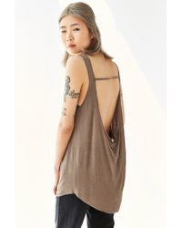 Project Social T - Brown Open-back Tank Top - Lyst
