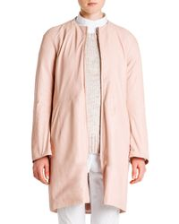 Jil Sander - Pink Reversible Nylon/leather Jacket - Lyst