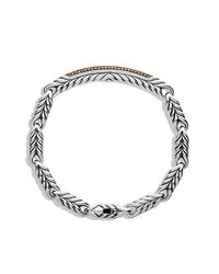 David Yurman | Brown Chevron Id Bracelet for Men | Lyst