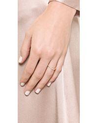 Elizabeth and James | Metallic Delgado Ring - Gold/White Topaz | Lyst