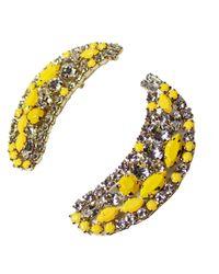 Shourouk | Yellow Banana Earrings | Lyst