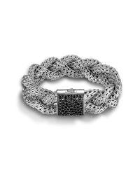 John Hardy - Black Large Braided Bracelet - Lyst