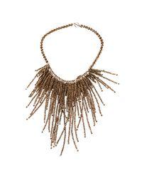 Brunello Cucinelli - Brown Hematite Fringe Necklace - Lyst