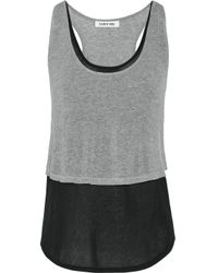 Elizabeth and James | Gray Sada Layered Jersey Tank | Lyst