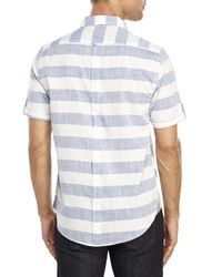 DKNY   Blue Wide Stripe Woven Shirt for Men   Lyst