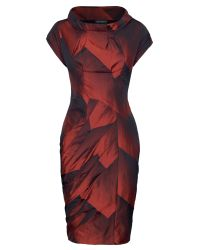 James Lakeland | Red Geometric Taffeta Dress | Lyst