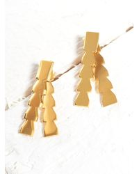 Lily Kamper | Metallic Midas Gold Pillar Earrings- Last Pair | Lyst