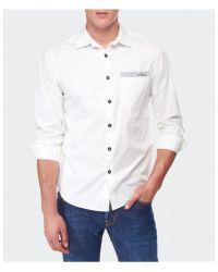 Stone Island - White Logo Shirt for Men - Lyst
