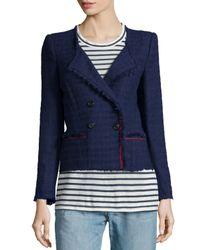 Étoile Isabel Marant - Blue Flenn Tweed Double-breasted Jacket - Lyst