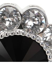 Miu Miu | Black Crystal-embellished Clip-on Earrings | Lyst